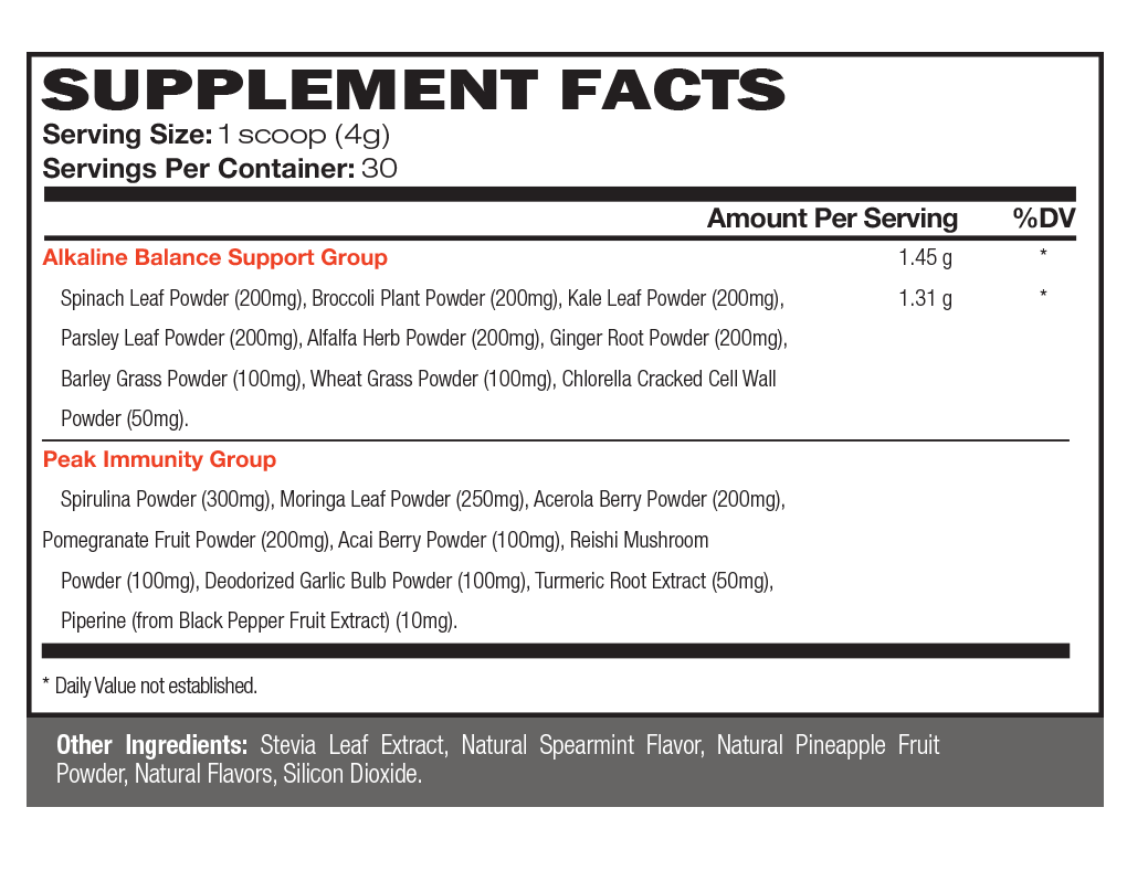 Vintage Bloom™ Supplement Facts