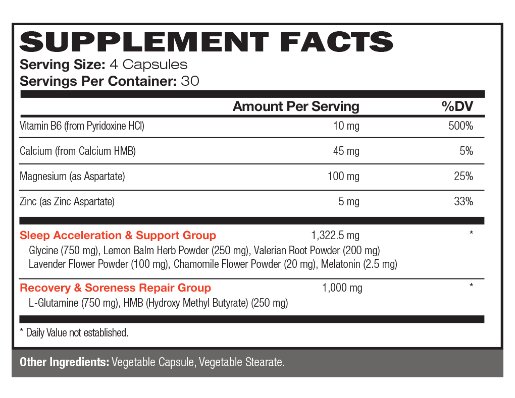 Vintage Bliss™ Supplement Facts