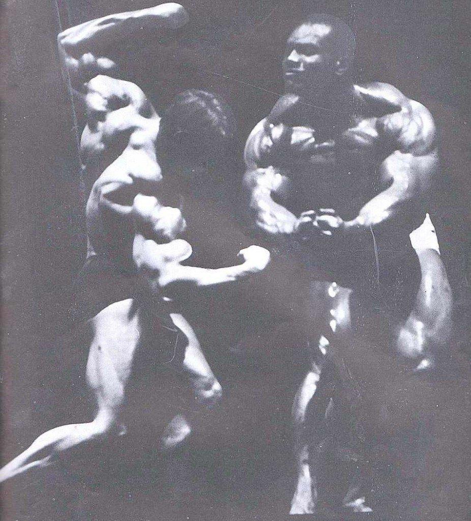 Sergio Oliva and Arnold Schwarzenegger
