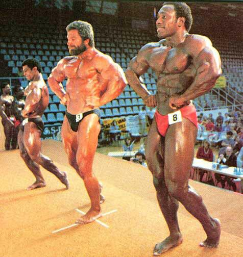 Lee Haney at the Sweden Grand Prix in 1983