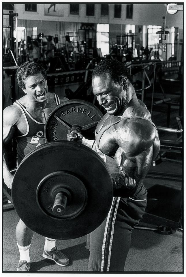Lee Haney with Rich Gaspari