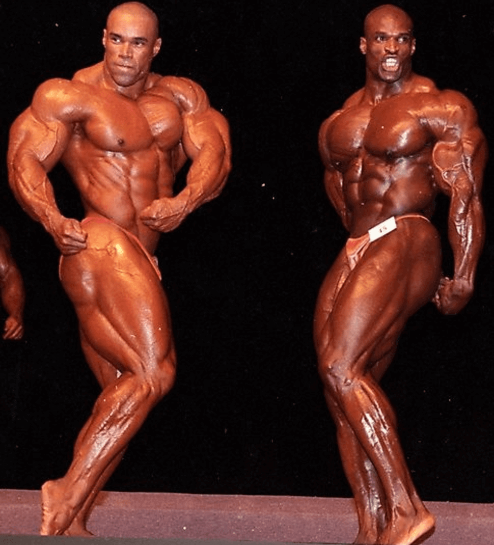 Ronnie Coleman and Flex Wheeler