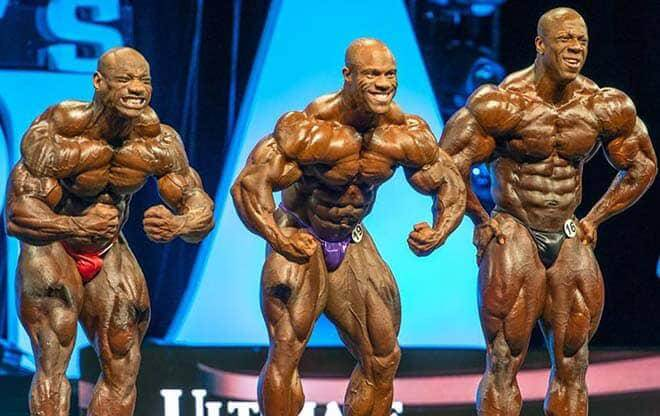 Phil Heath, Dexter Jackson and Shawn Rhoden