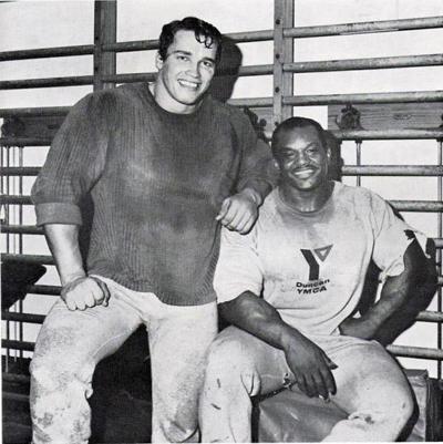 Arnold Schwarzenegger and Sergio Oliva