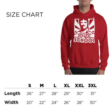 Classic OSL Hoodie Size Chart