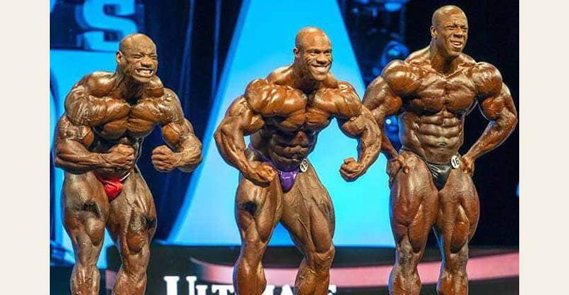 Phil Heath, Dexter Jackson and Shawn Rhoden