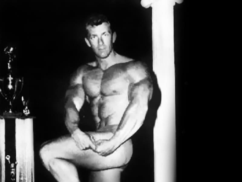 Bob Gajda winning the Mr. America.