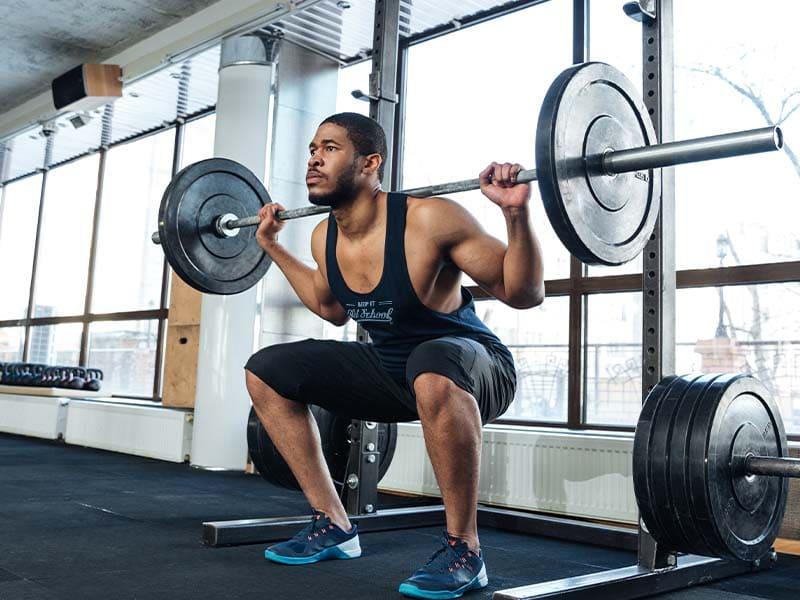 Male Doing squats