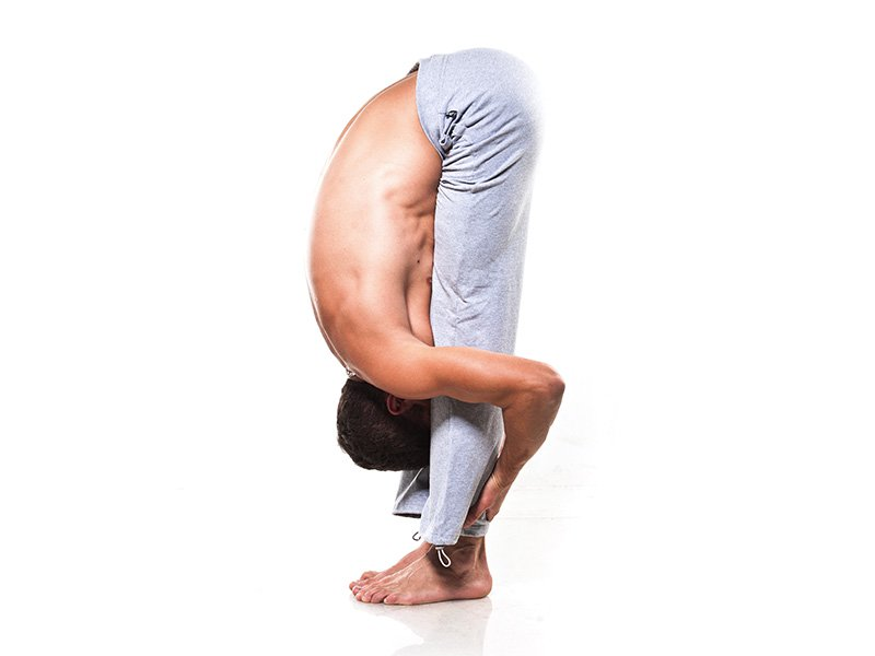 standing forward yoga pose