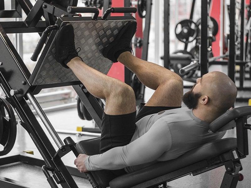 High leg press