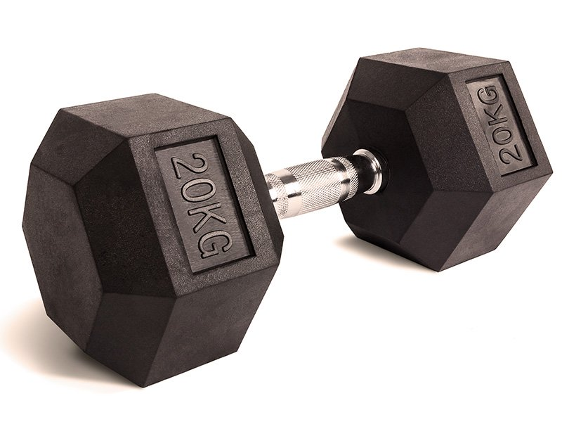Fixed hex dumbbell