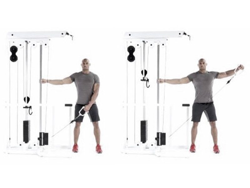 one arm cable lateral raise