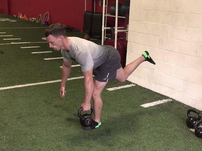 one leg front push