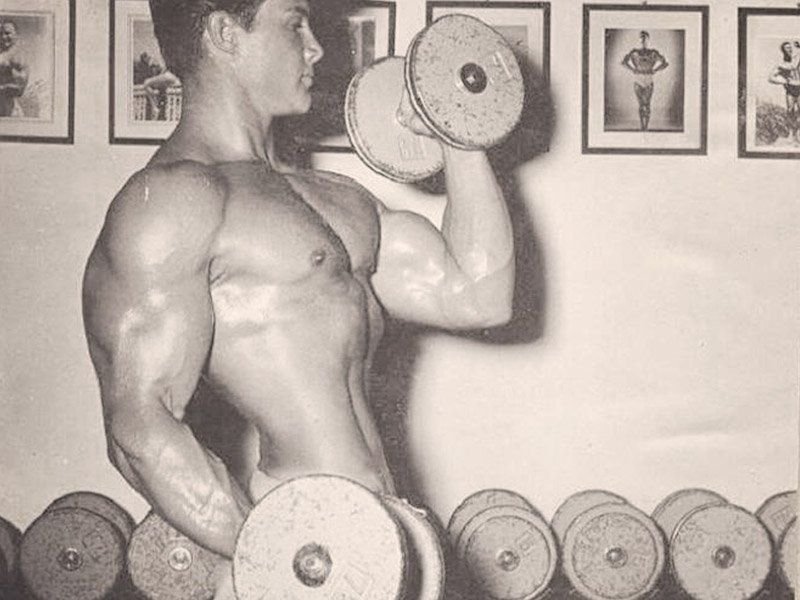 Steve Reeves working out