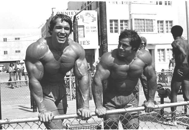 Franco Columbu and Arnold