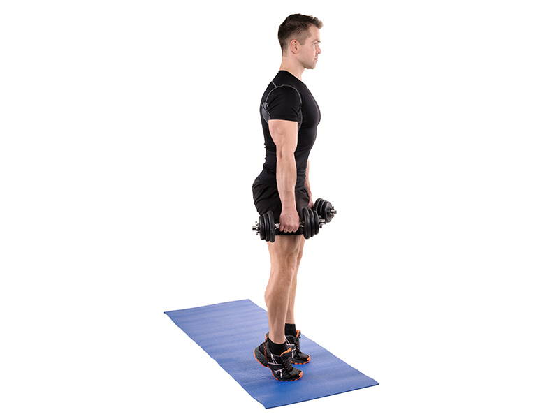 Calf Raises with Dumbbell