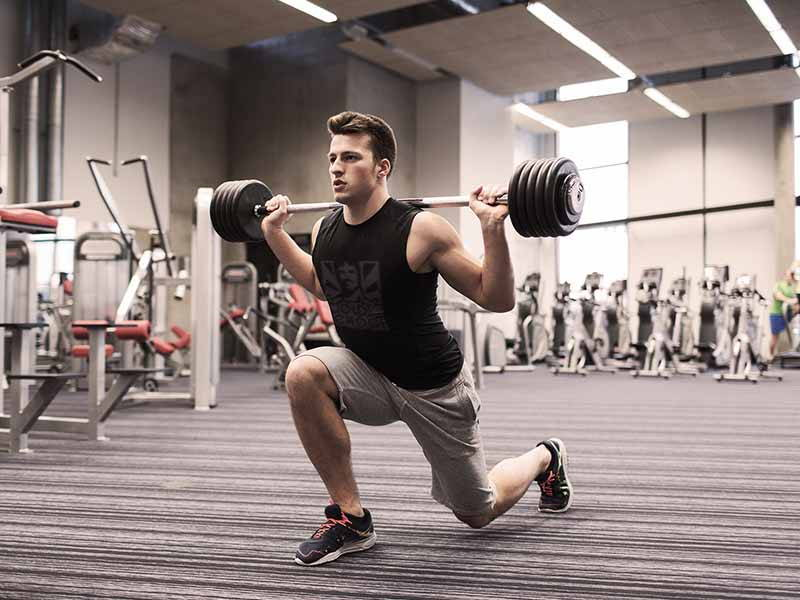 Lunge with Barbell