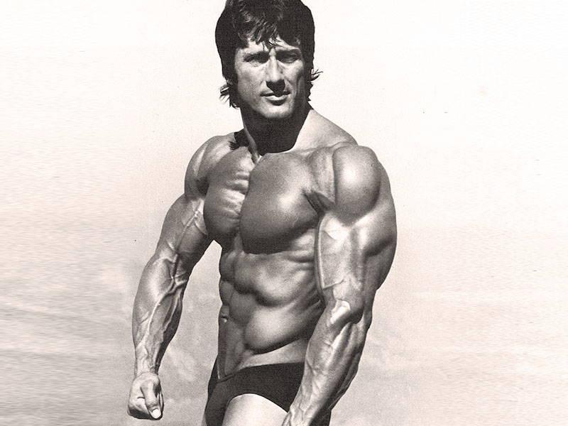 Frank Zane Posing On Beach