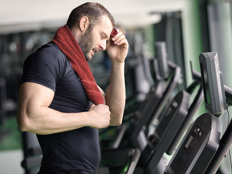 Man tired On Treadmill