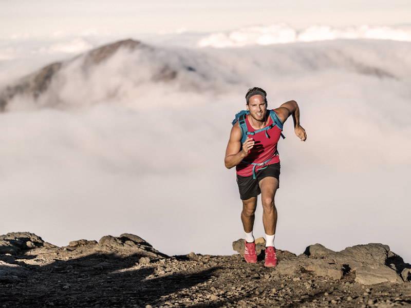 Man Running On Mountain
