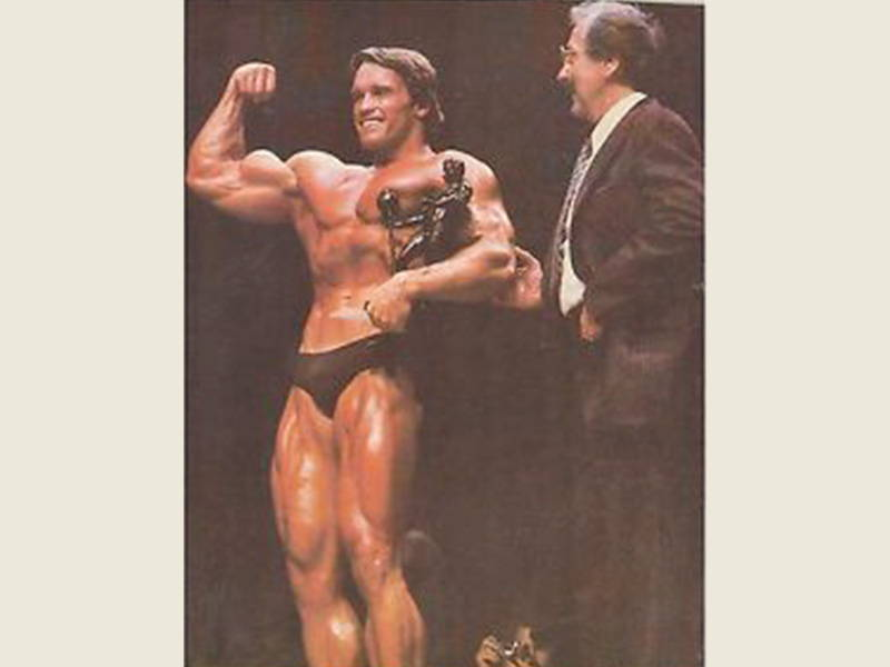 Arnold with awards