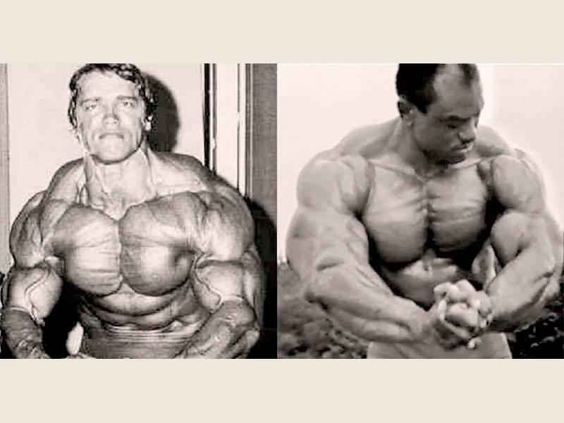 Arnold Vs Sergio Posing
