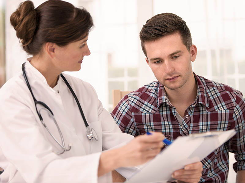 Doctor Advising Man