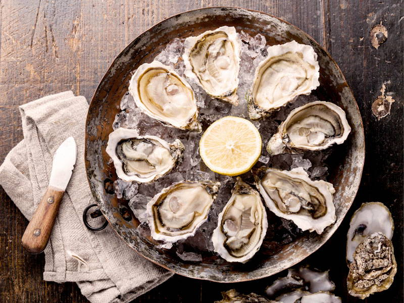 Oysters Testosterone boost